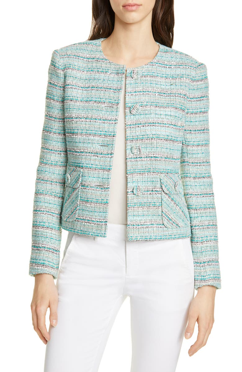 HELENE BERMAN Short Tweed Jacket, Main, color, 440