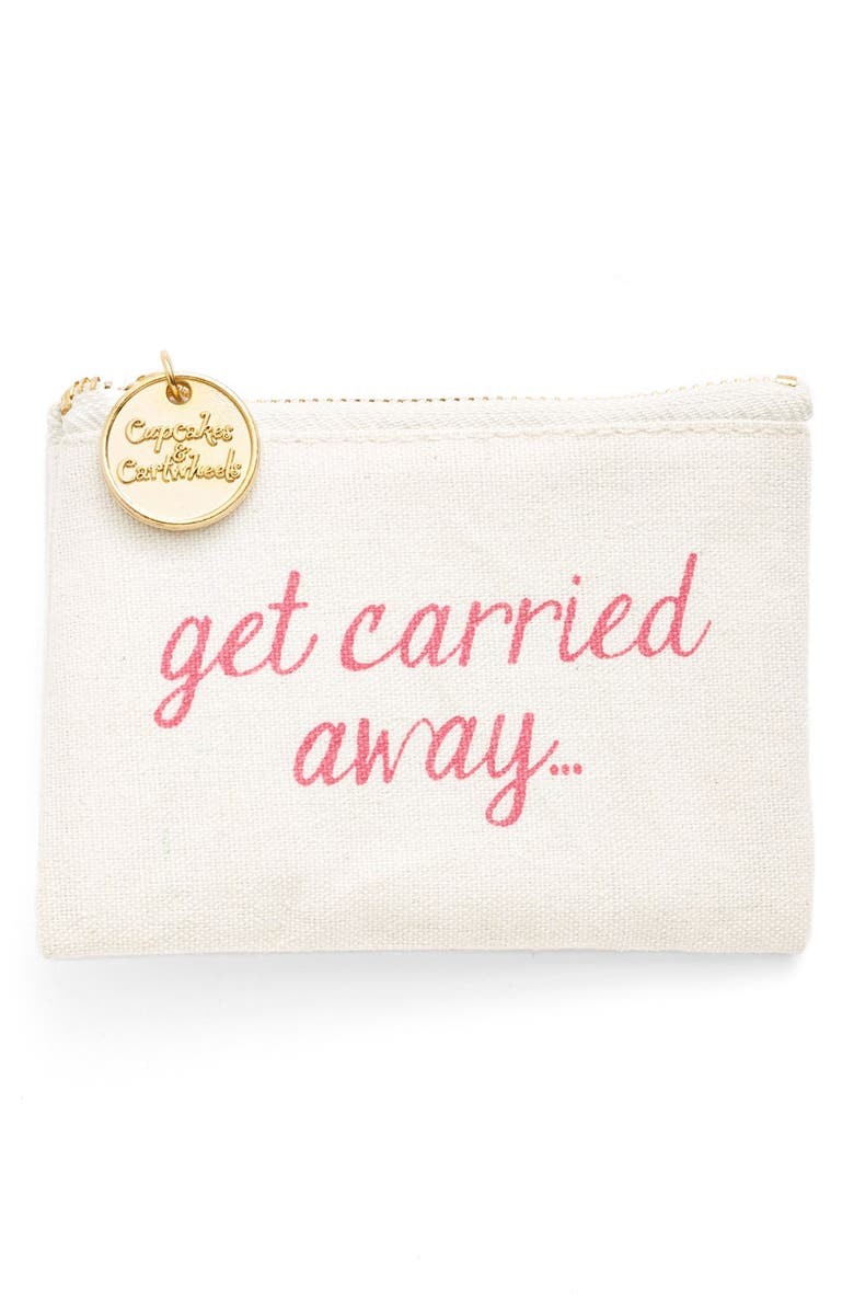 TWO'S COMPANY 'Get Carried Away' Coin Purse, Main, color, 100