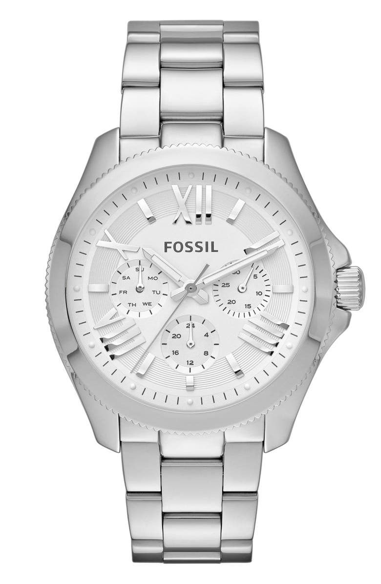 FOSSIL 'Cecile' Multifunction Bracelet Watch, 40mm, Main, color, 040