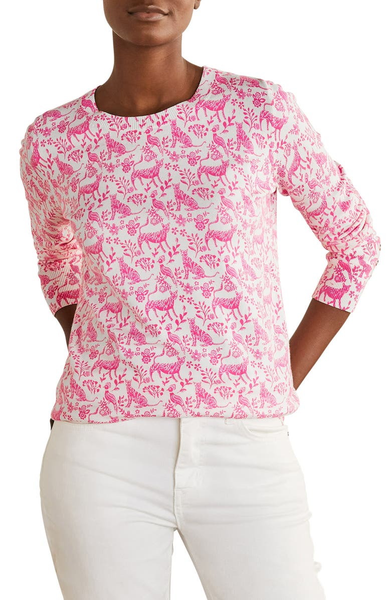 BODEN Eldon Sweater, Main, color, LOLLIPOP DAYDREAM