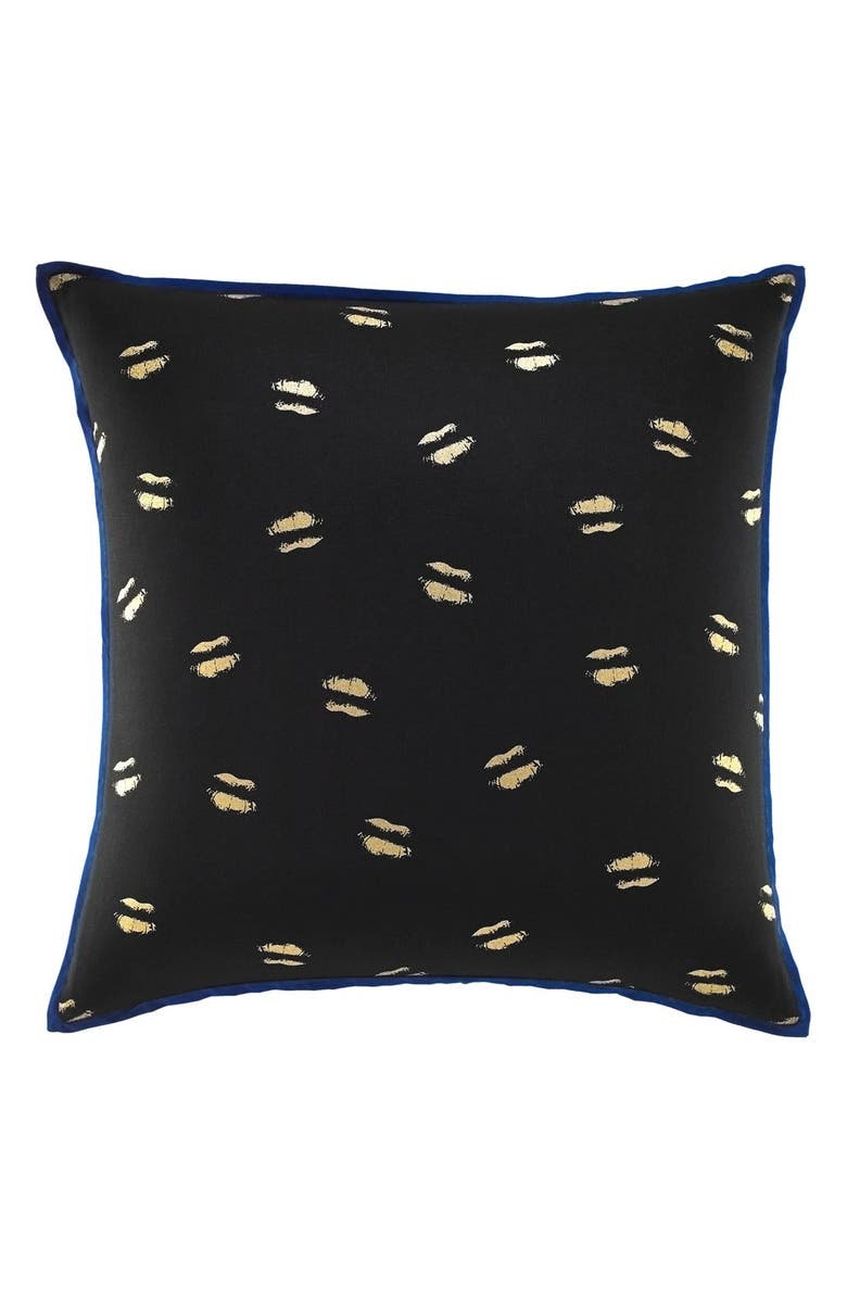 BETSEY JOHNSON BEDDING Metallic Lip Pillow, Main, color, 001