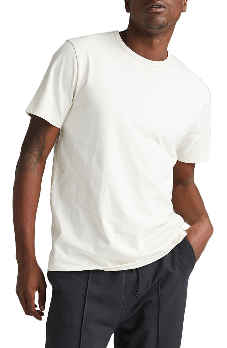 RICHER POORER Weighted Organic Cotton T-Shirt, Main, color, BONE