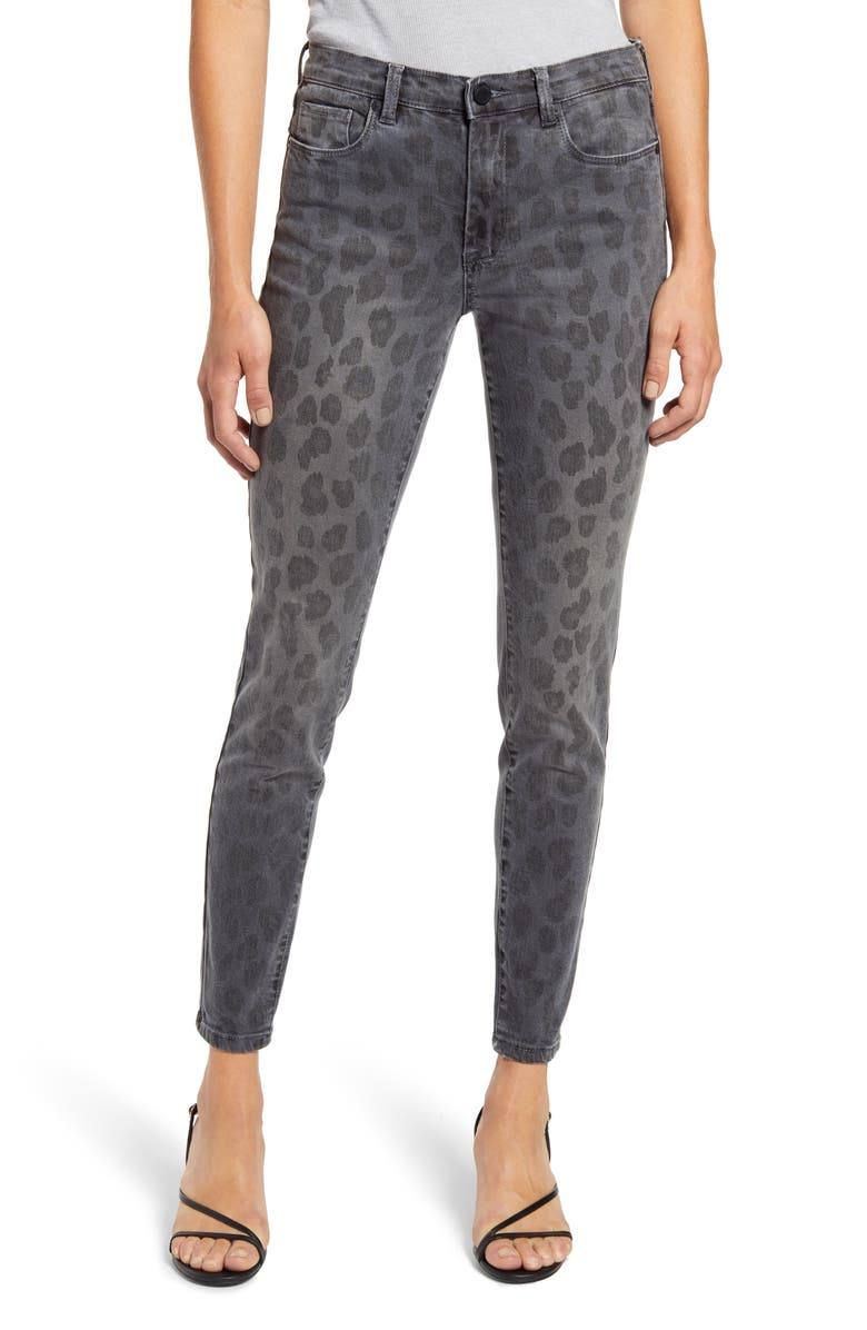 BLANKNYC The Bond Leopard Print Ankle Skinny Jeans, Main, color, JUNGLE QUEEN