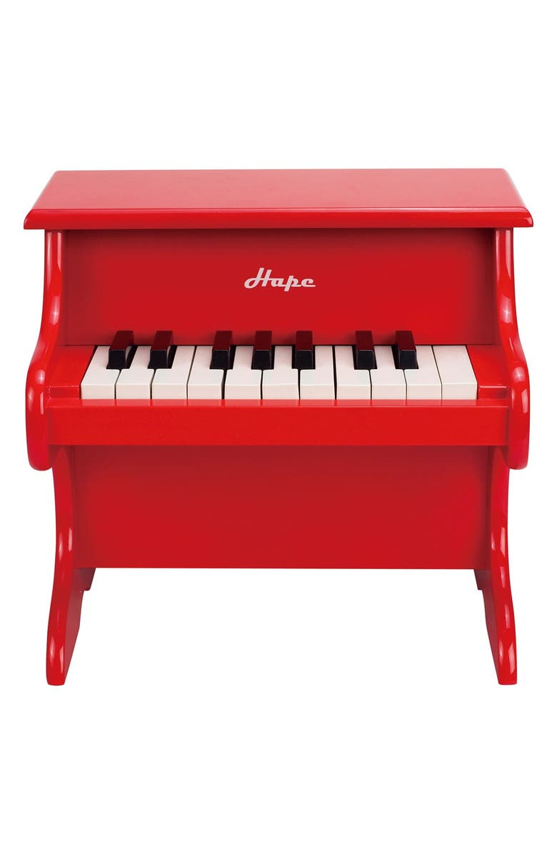 HAPE 'Playful' Toy Piano, Main, color, RED