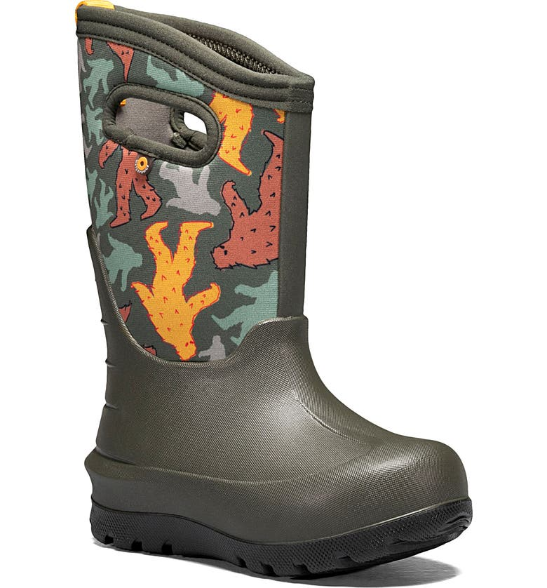 BOGS Neo-Classic Insulated Waterproof Boot, Main, color, DARK GREEN MULTI