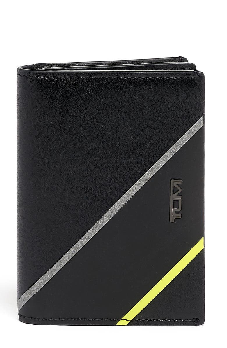 TUMI Gusseted Leather Card Case, Main, color, 015