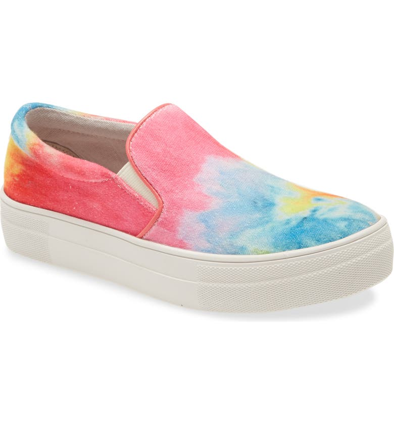STEVE MADDEN Gills Platform Slip-On Sneaker, Main, color, BRIGHT MULTI