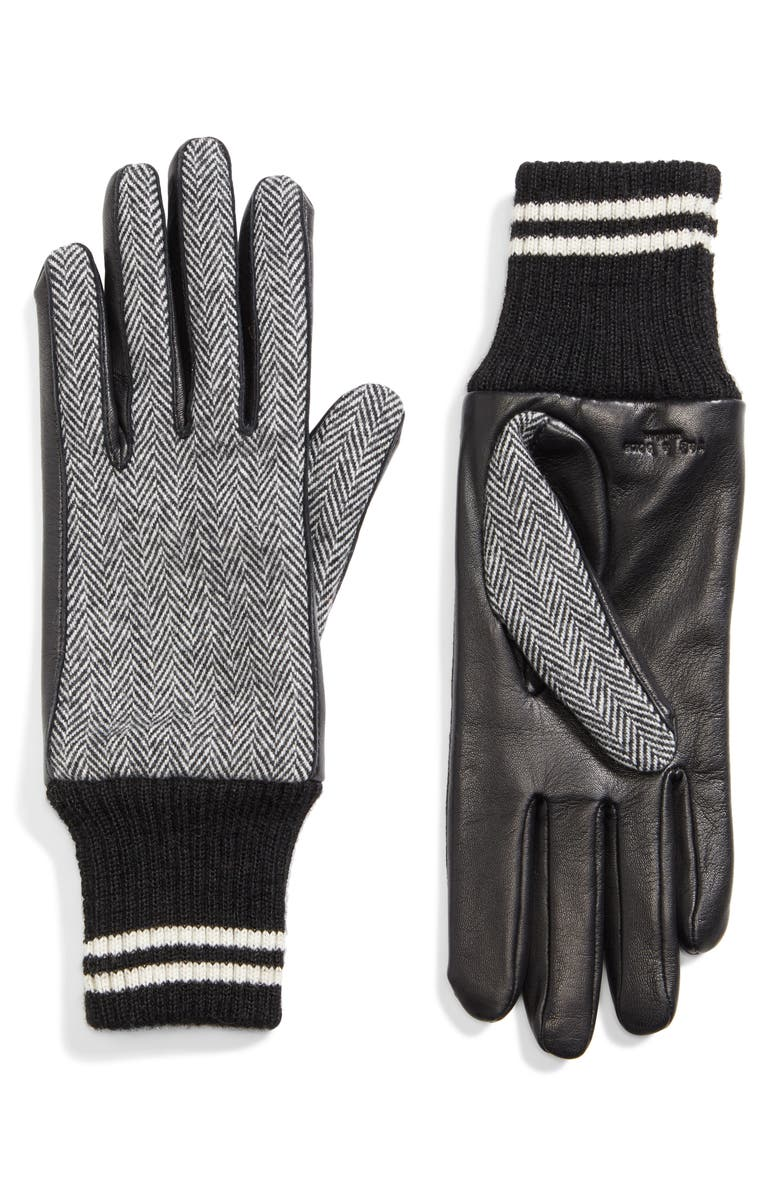 RAG & BONE Ski Gloves, Main, color, 001