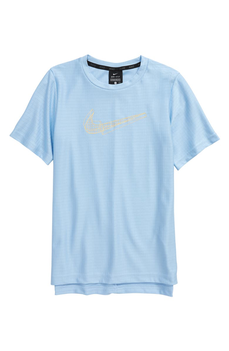 NIKE Kids' Breathe Logo Graphic Tee, Main, color, PSYCHIC BLUE