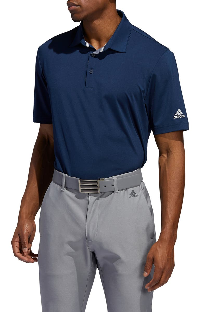 ADIDAS GOLF Ultimate365 Solid Performance Polo, Main, color, COLLEGIATE NAVY