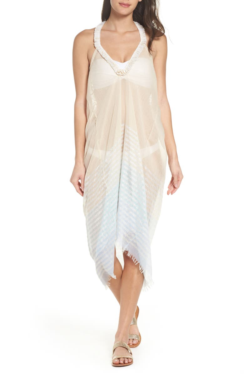 POOL TO PARTY Halter Cover-Up Dress, Main, color, SKY