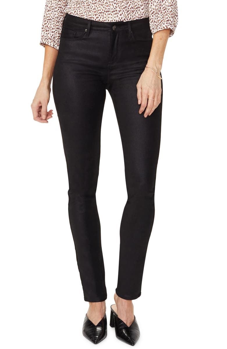 NYDJ Alina Faux Suede Skinny Pants, Main, color, 001