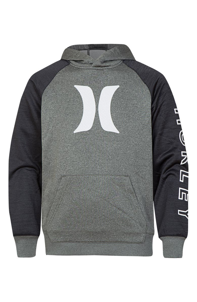HURLEY Dri-FIT Solar Icon Logo Pullover Hoodie, Main, color, 020