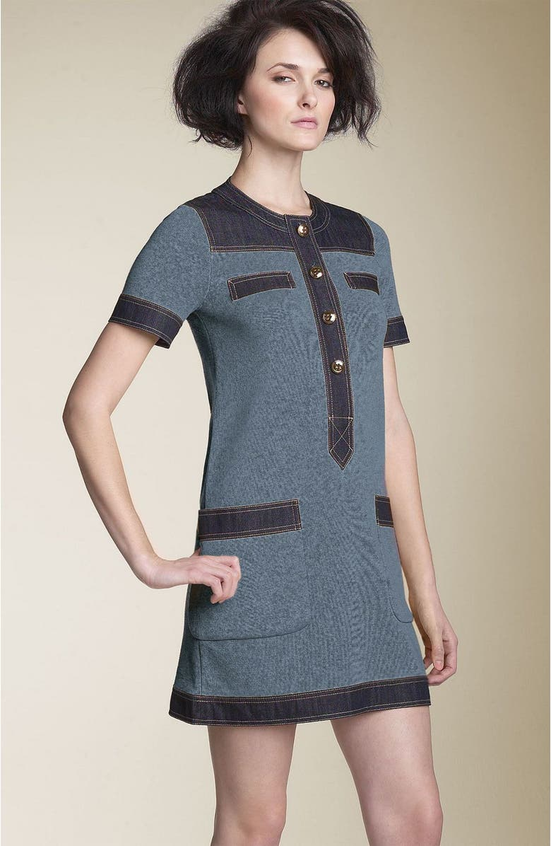 MARC BY MARC JACOBS 'Indigo' Colorblock Sweater Dress, Main, color, 401