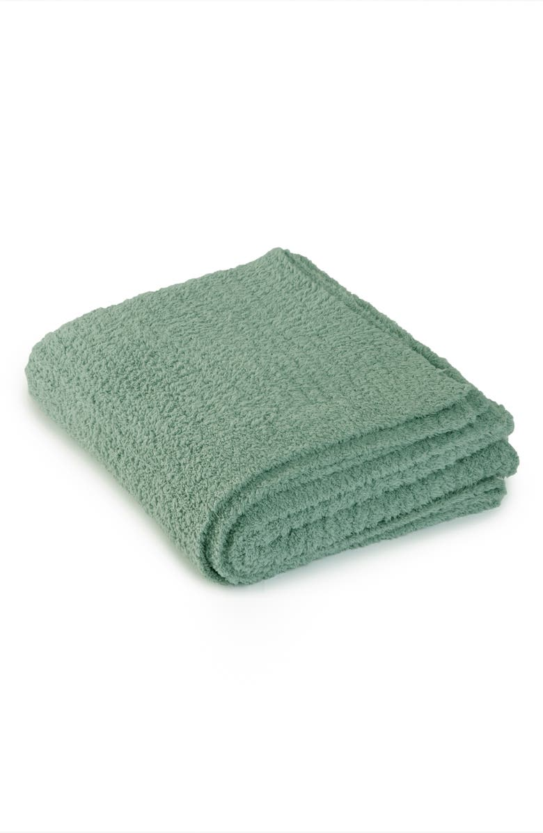 BAREFOOT DREAMS<SUP>®</SUP> CozyChic<sup>®</sup> Ribbed Throw Blanket, Main, color, SAGE GREEN