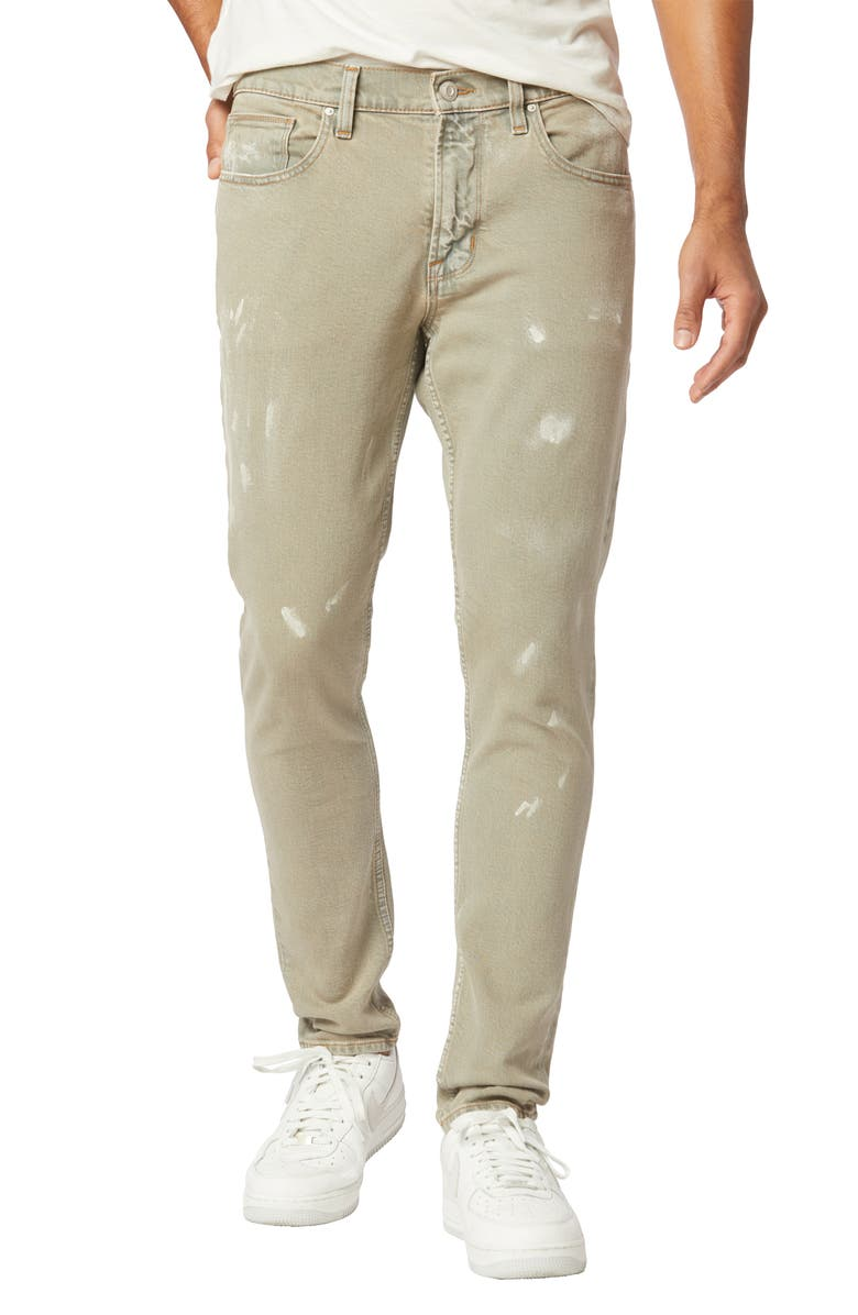 HUDSON JEANS Zack Distressed Skinny Fit Jeans, Main, color, SCRAPED PAINT