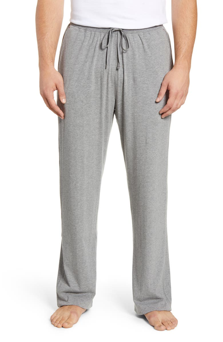 DANIEL BUCHLER Stretch Cotton & Modal Lounge Pants, Main, color, 020