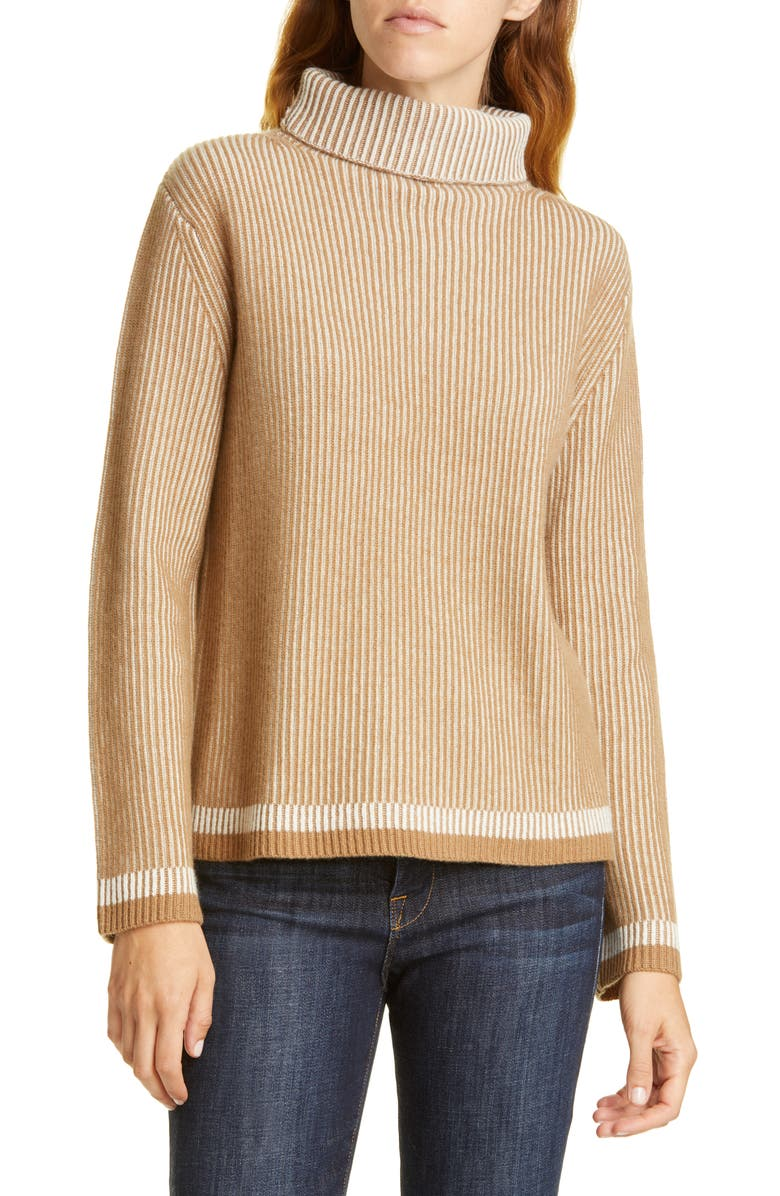 NORDSTROM SIGNATURE Turtleneck Ribbed Cashmere Sweater, Main, color, 235