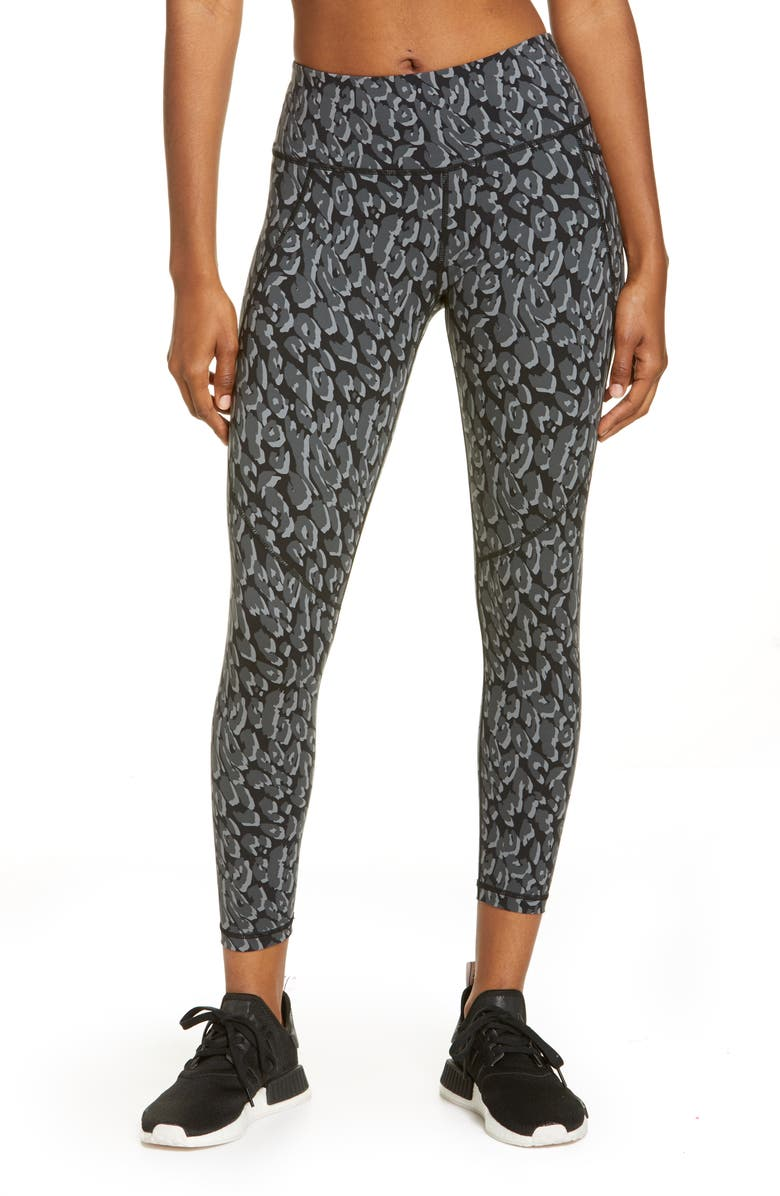SWEATY BETTY Power Pocket Workout Leggings, Main, color, BLACK TONAL LEOPARD PRINT