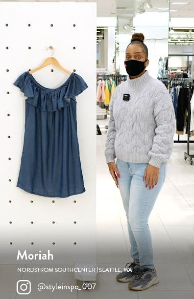 Off the Shoulder Chambray Cover-Up Dress, sales video thumbnail