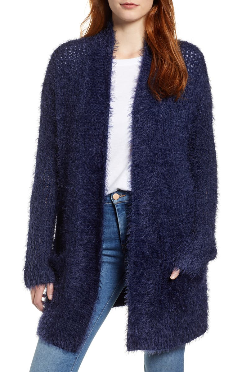 CASLON<SUP>®</SUP> Novelty Stitch Cardigan, Main, color, NAVY PEACOAT