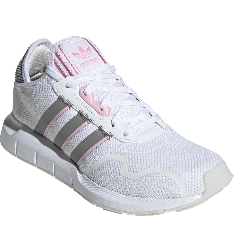 ADIDAS Swift Run X Sneaker, Main, color, WHITE/ SOLID GREY/ TRUE PINK