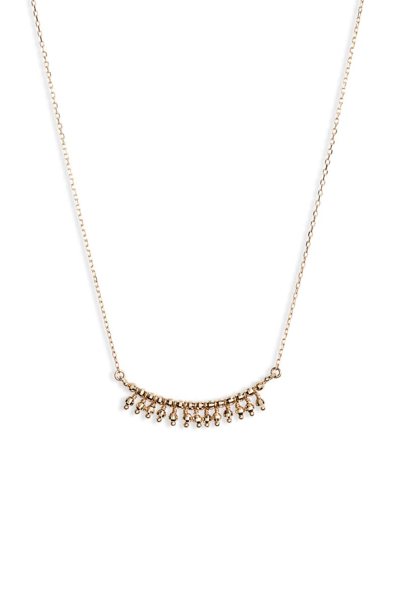 MIZUKI 14K Gold Frontal Fringe Necklace, Main, color, 710