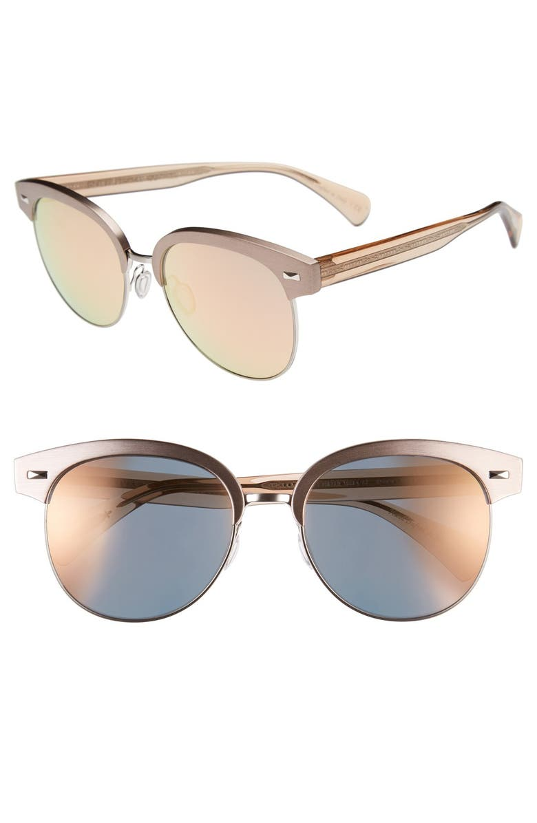 OLIVER PEOPLES 'Shaelie' 55mm Sunglasses, Main, color, SHELL/ SILVER