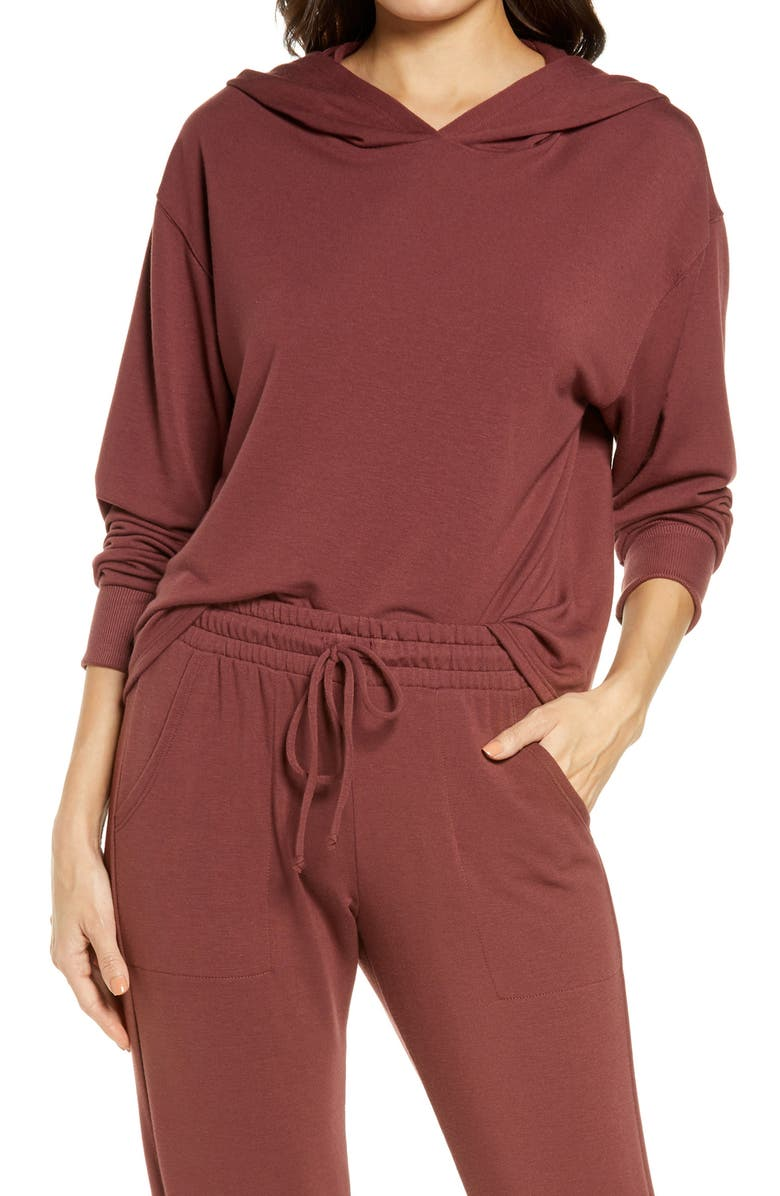PROJECT SOCIAL T Women's Hoodie, Main, color, COFFEE BERRY