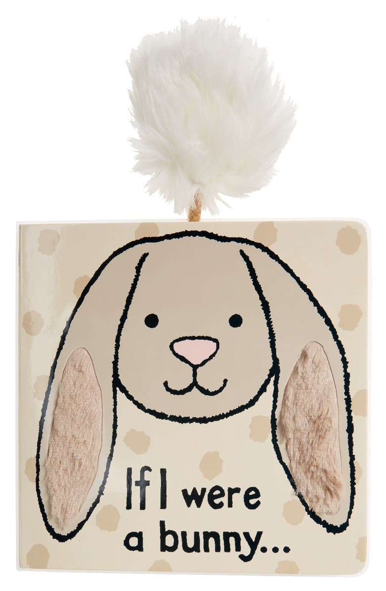 JELLYCAT 'If I Were A Bunny' Board Book, Main, color, Grey