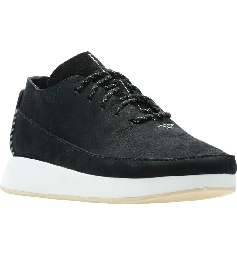 CLARKS<SUP>®</SUP> Kiowa Sport Sneaker, Main, color, BLACK LEATHER