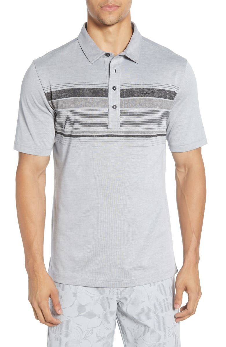 TRAVISMATHEW Salty Air Stripe Jersey Polo, Main, color, 020