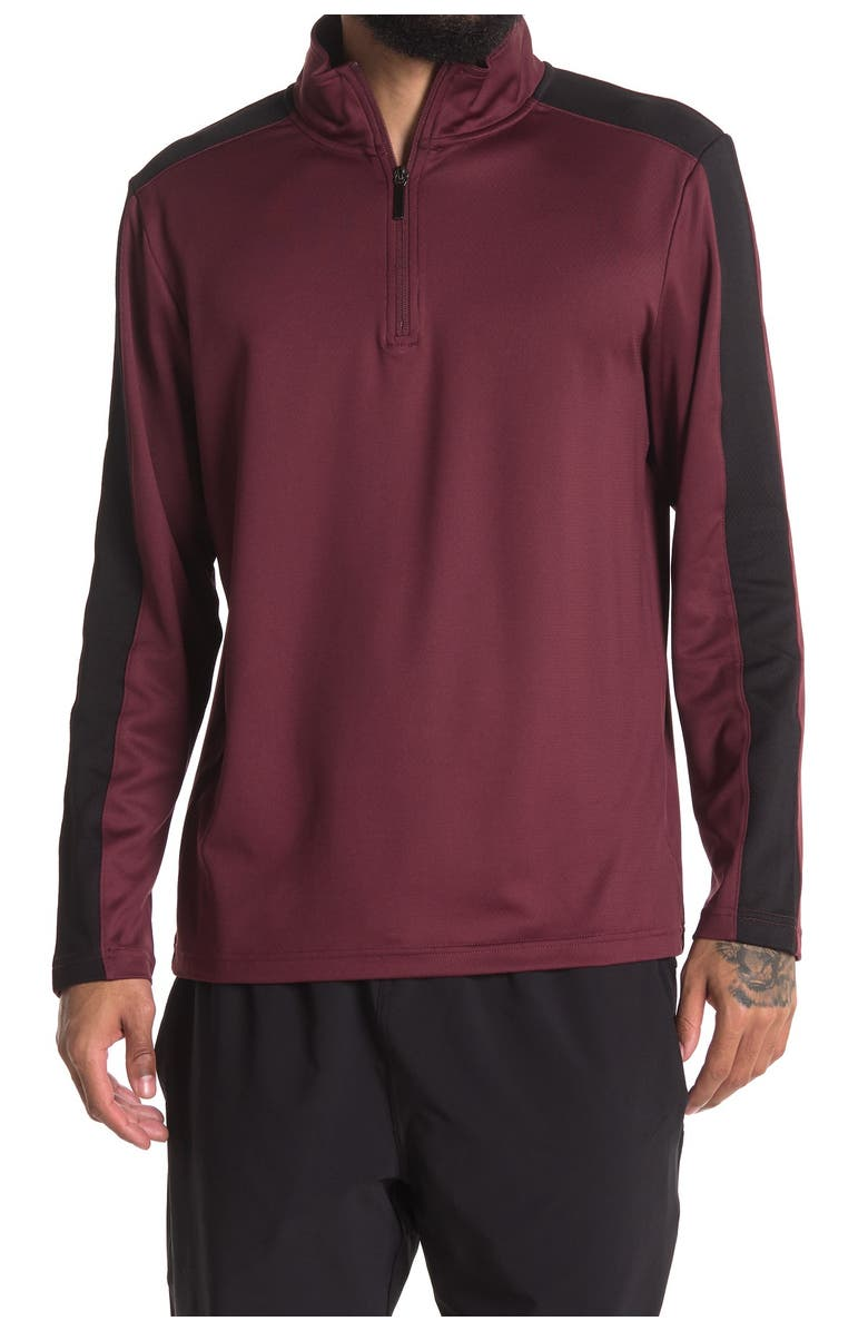MOVE 1/4 Zip Knit Pullover, Main, color, BURGUNDY