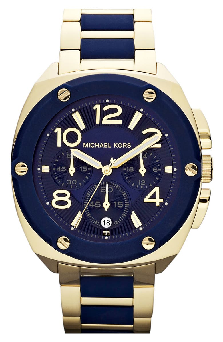 MICHAEL MICHAEL KORS Michael Kors 'Tribeca' Chronograph Bracelet Watch, 43mm, Main, color, 410