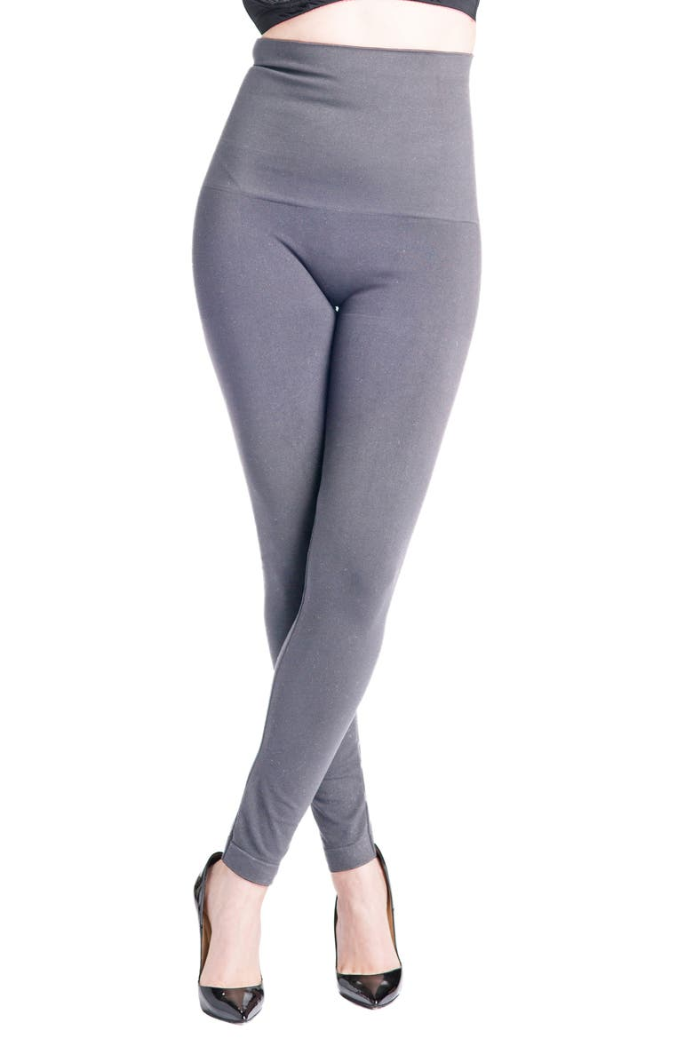 PREGGO LEGGINGS Snapback Postpartum Leggings, Main, color, GREY