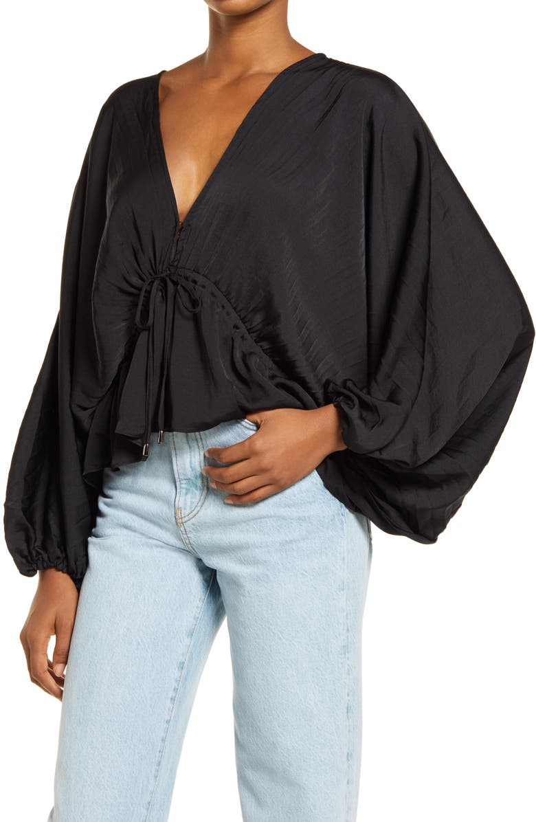 FREE PEOPLE Elouise Blouse, Main, color, 001