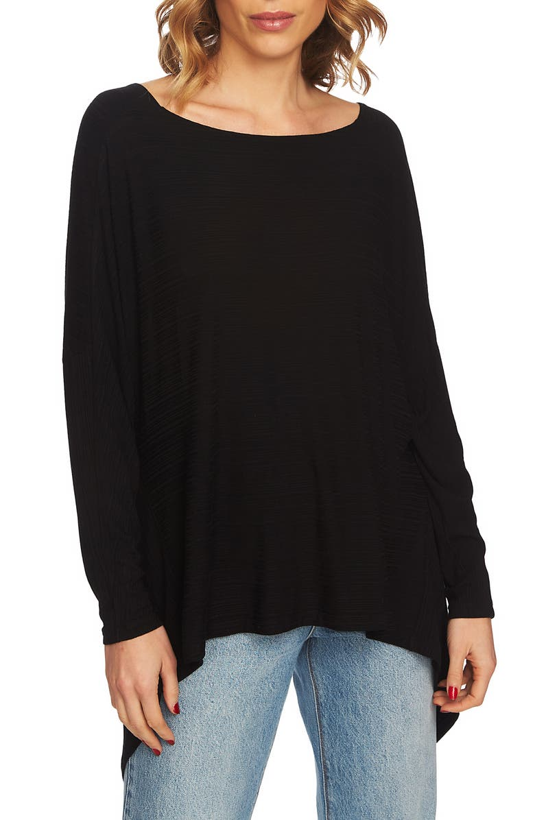 1.STATE Knot Back High/Low Top, Main, color, RICH BLACK