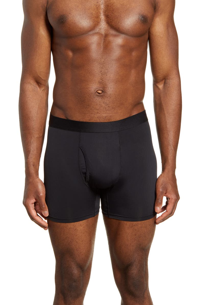 THIEVES GOLD Solid Gold Boxer Briefs, Main, color, BLACK