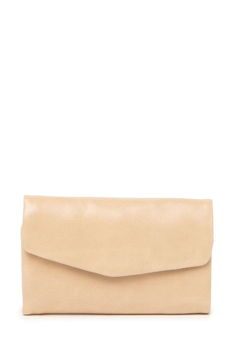 HOBO Lacy Leather Wallet, Main, color, PARCHMENT