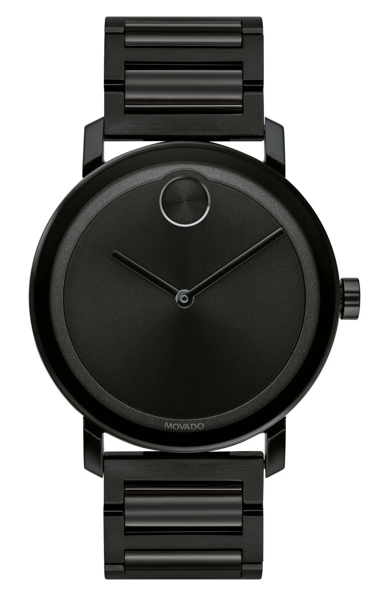 MOVADO Bold Evolution Bracelet Watch, 40mm, Main, color, BLACK