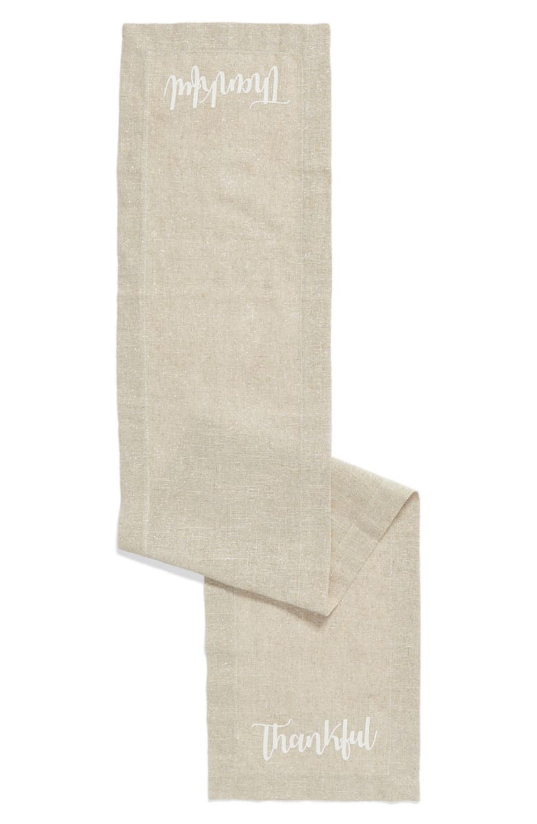 LEVTEX Thankful Table Runner, Main, color, NATURAL
