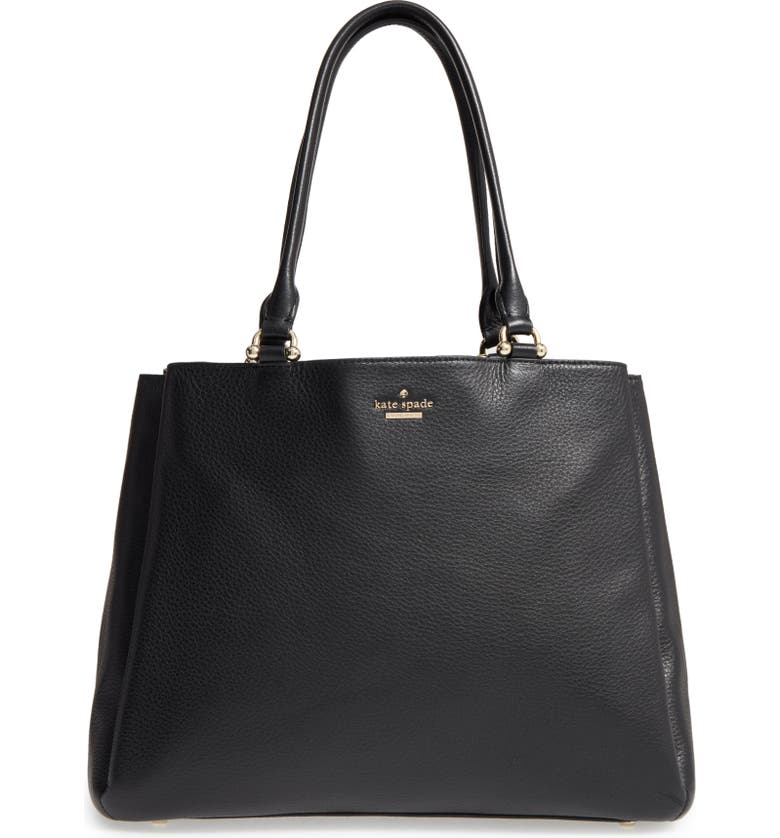 KATE SPADE NEW YORK lombard street neve leather tote, Main, color, 001