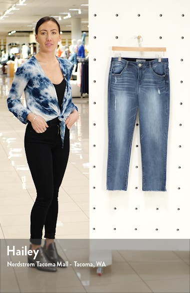 Luxe Touch Ab-Solution High Waist Vintage Skinny Crop Jeans, sales video thumbnail