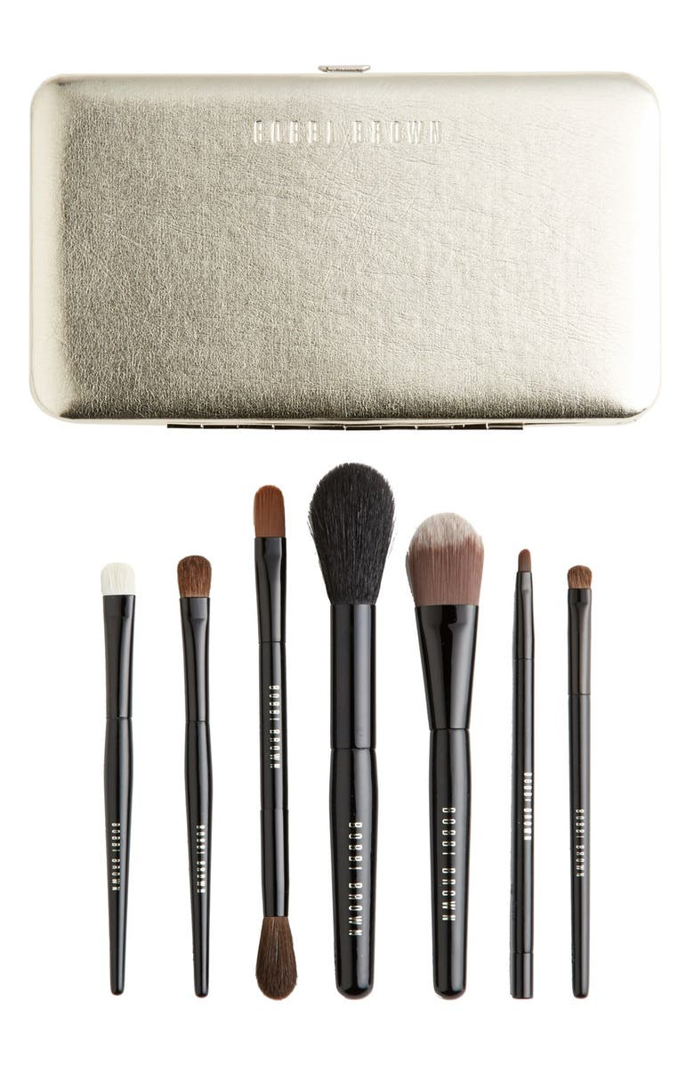 BOBBI BROWN Limited Edition 'Old Hollywood' Luxe Travel Brush Set, Main, color, No Color