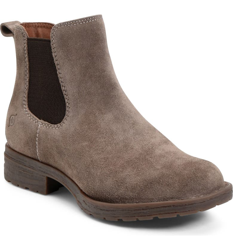 BØRN Cove Waterproof Chelsea Boot, Main, color, TAUPE SUEDE