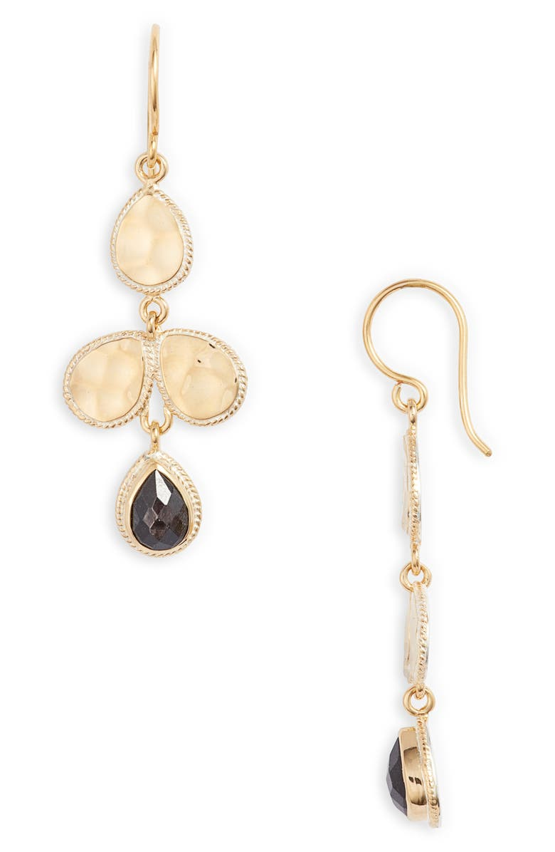 ANNA BECK Hammered Stone Chandelier Earrings, Main, color, 001