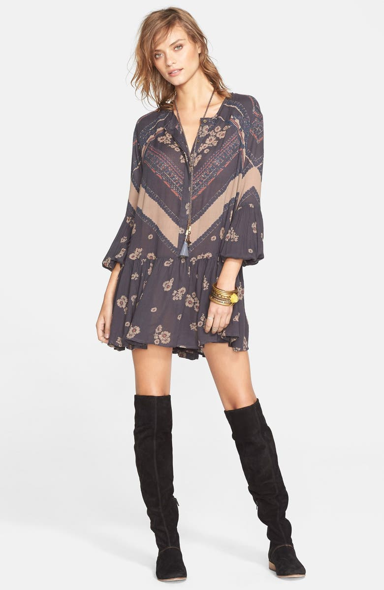 FREE PEOPLE 'From Your Heart' Print Dress, Main, color, 001