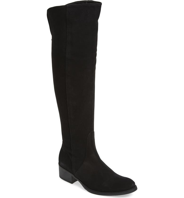 TONI PONS 'Tallin' Over-The-Knee Riding Boot, Main, color, BLACK SUEDE