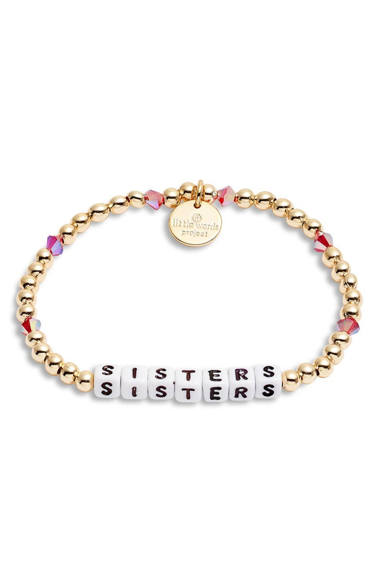 LITTLE WORDS PROJECT Little Word Project Sisters Stretch Bracelet, Main, color, 960
