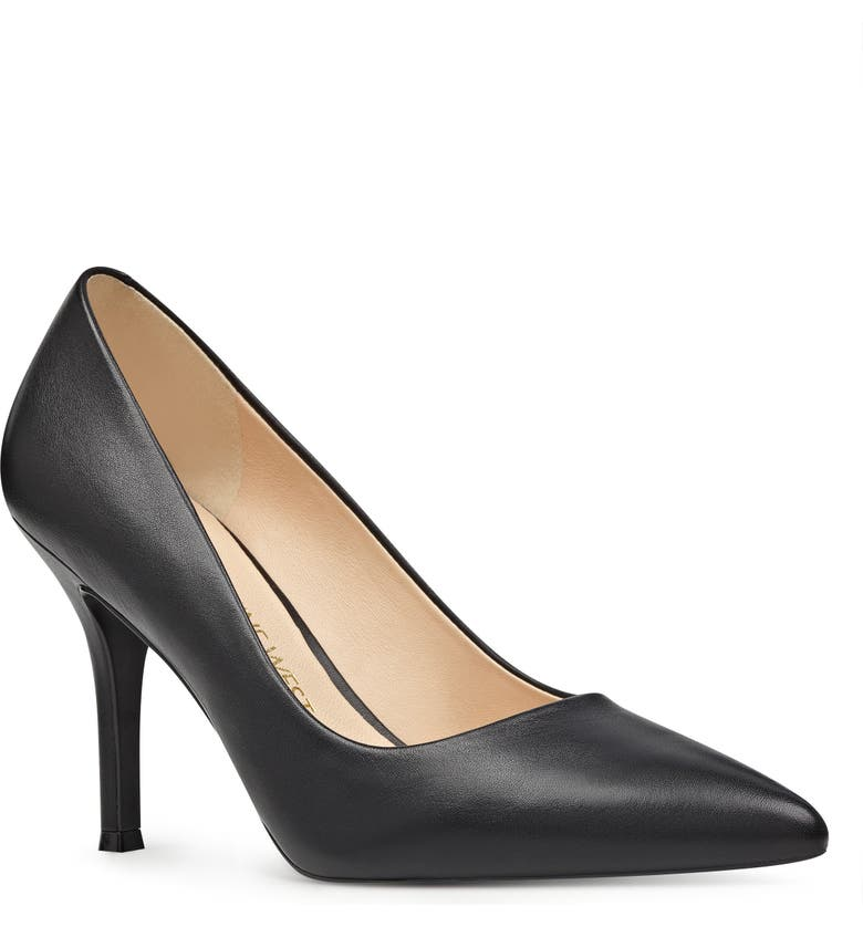 NINE WEST Fifth Pointy Toe Pump, Main, color, BLACK LEATHER